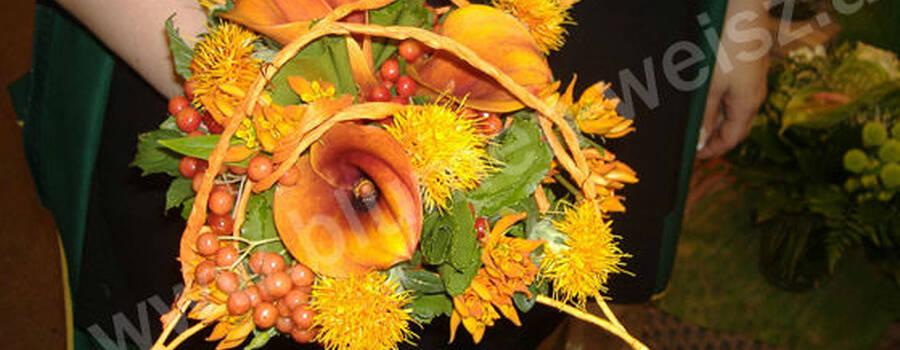 Beispiel: Gelber Brautstrauß, Foto: Blumen Weisz.