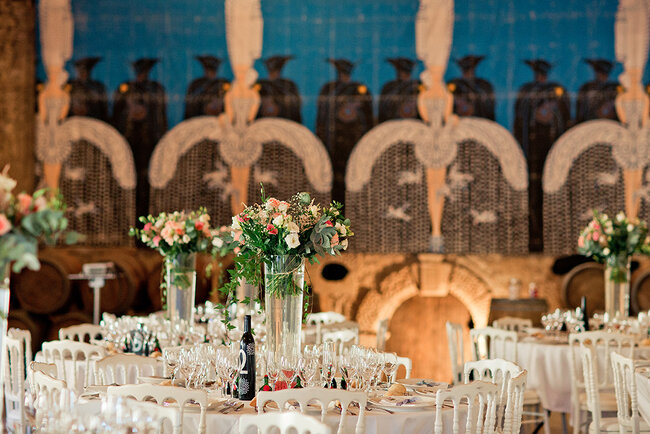 Rustic style tall centre pieces