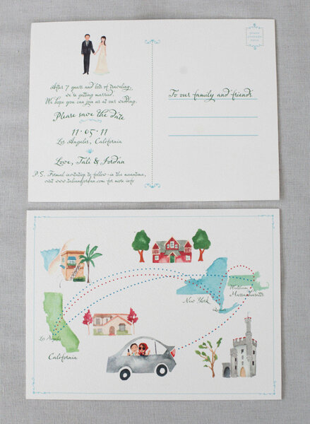 invitacin de boda tipo postal
