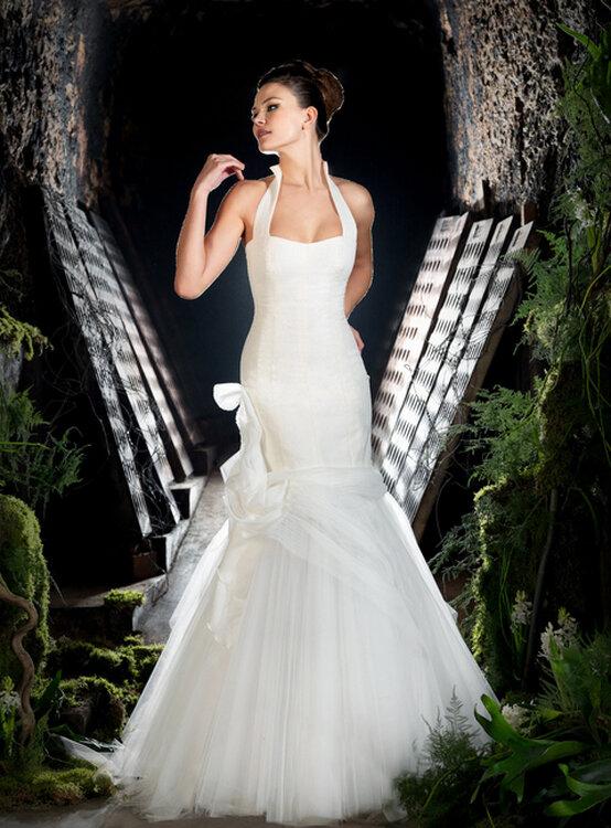 Vestidos de novia atados al cuello
