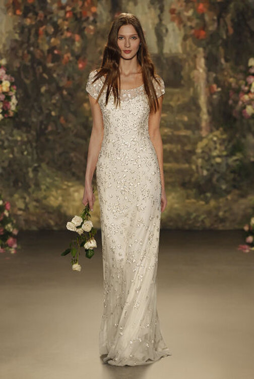 Bedazzled Wedding Dresses: Rhinestones, Metallic Details, and ...