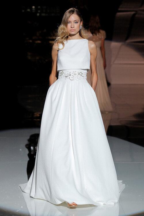 Vestido novia dos piezas online