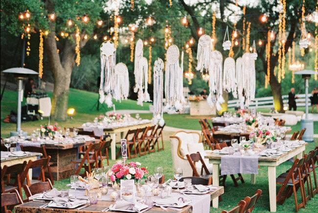 Оформление свадьбы в стиле бохо шик 2017