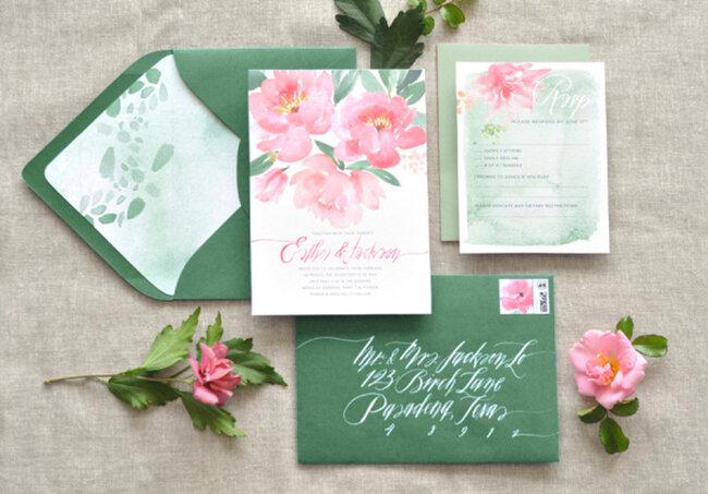 Convite de Casamento de Outono