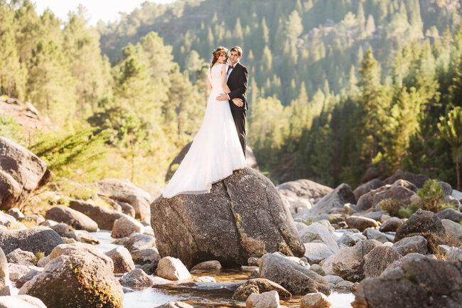 A mais espectacular fotografia dos noivos no Gerês!