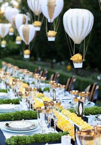 Ozdoby na balonowe dekoracje ślubu