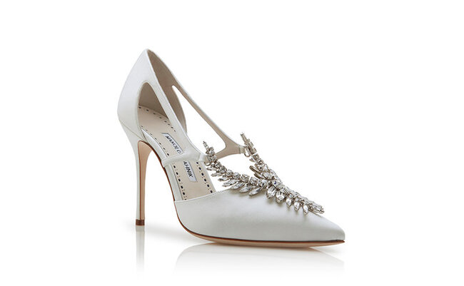 Zapatos para novia Manolo Blahnik 2018.