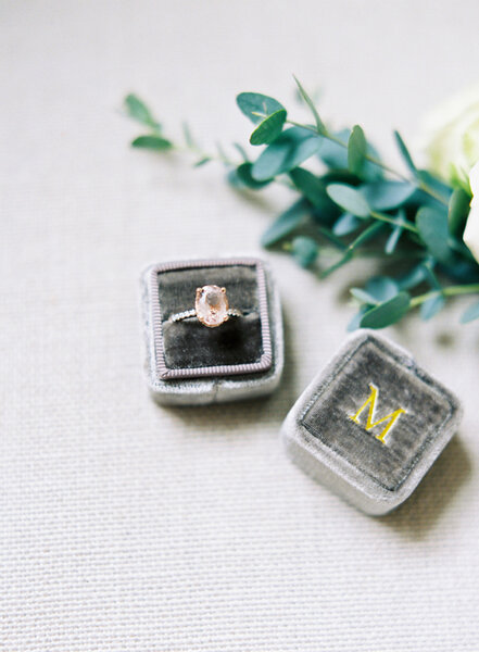 Tourmaline engagement ring.