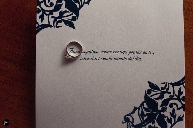 Invitación de la boda de Eugenia y Abel