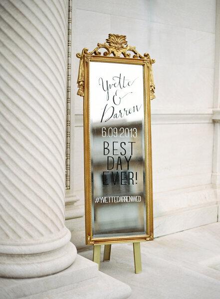 Geef een speciaal tintje aan je bruiloft door spiegels als decoratie te gebruiken - Villa decoratie ...