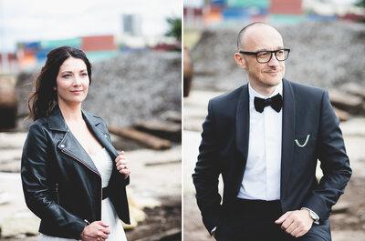 Perfecto en cuir, Cuba Libre : Le mariage rock et décalé de Betty et Gaël!