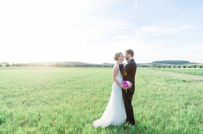 Die schönsten Hochzeitstrends 2017: Schlicht & nachhaltig!