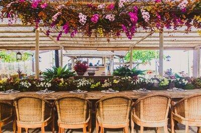 Decoração aérea em casamentos: plantas, flores, lustres e muito mais!
