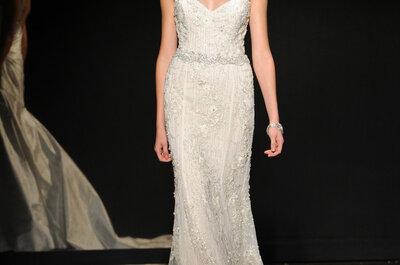 Encanto andante: Vestidos de novia de Lazaro colección otoño 2014