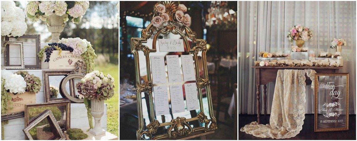 Increíbles ideas para decorar tu boda con espejos: entorno único y especial