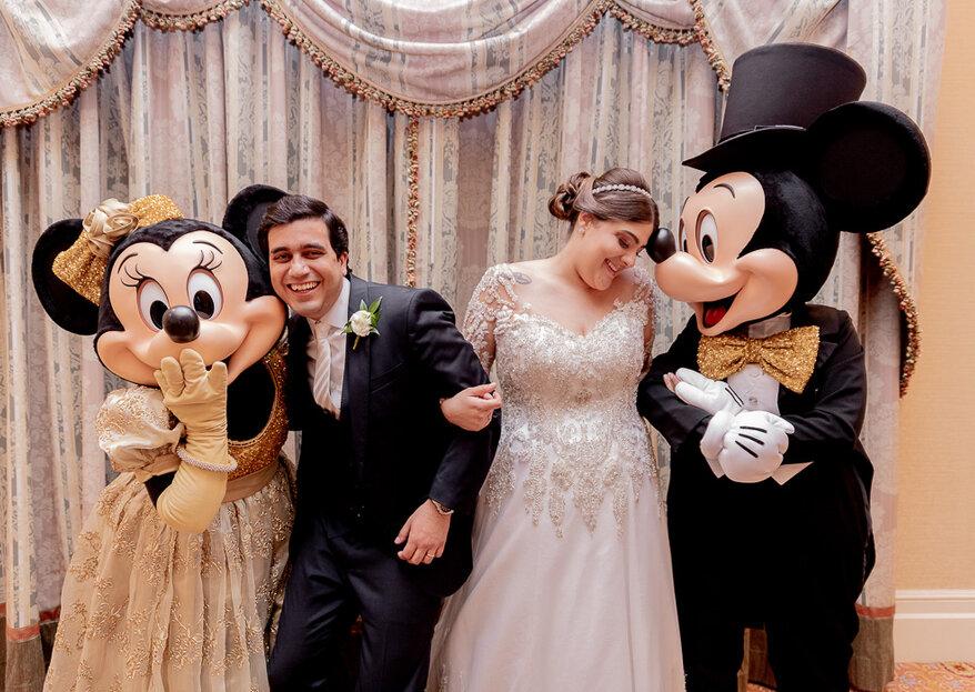 Jessica & Hugo: Um verdadeiro conto de fadas com direito a lindo casamento na Disney com a assessoria impecável de Agda Paula