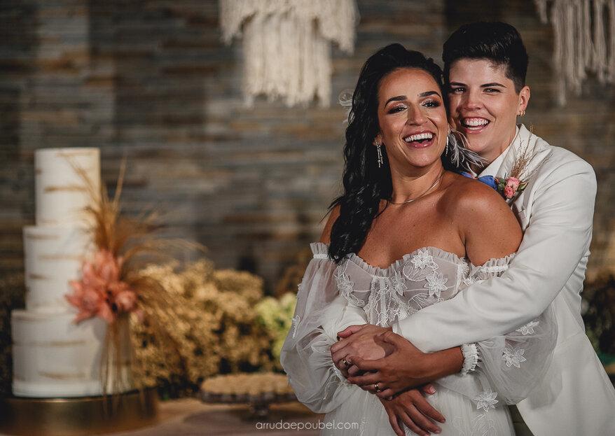 Carla & Lara: Casamento emocionante e com decoração deslumbrante para celebrar uma linda história de amor