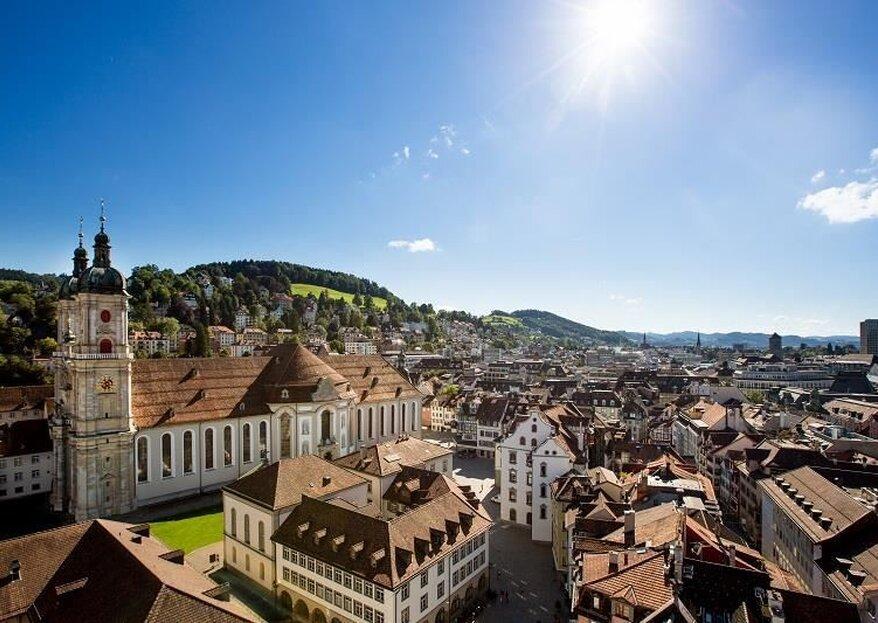 Die schönsten Hochzeitslocations in St. Gallen und Umgebung!