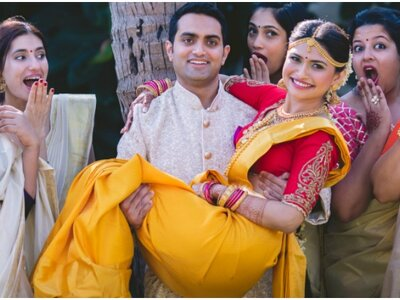 Traditional South Indian Wedding with a Goan twist