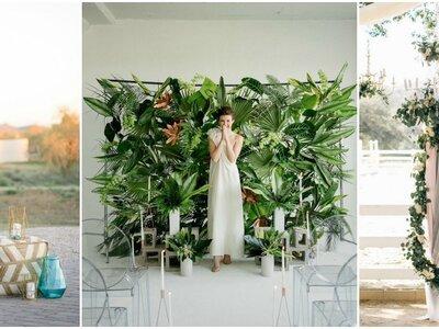 Originales fondos para el photocall de tu matrimonio. ¡Tendrás las fotos más hermosas!