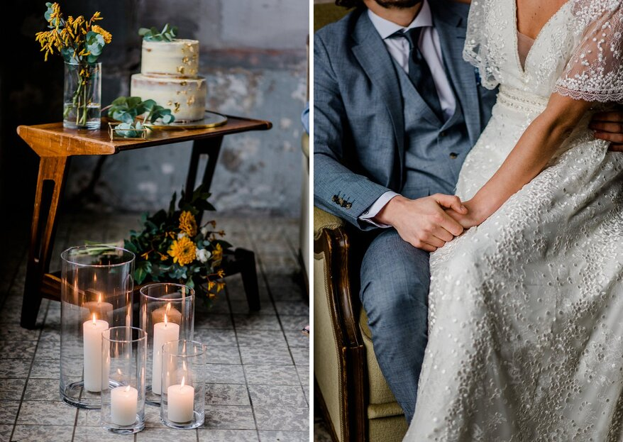 Industrial Boho Winter Wedding Styled Shoot