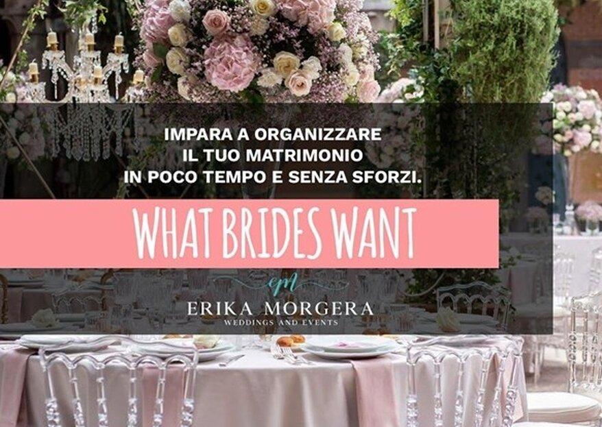 """Il corso di Erika Morgera """"What Brides Want"""" vi aspetta il 13 ottobre a Roma"""