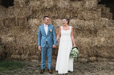 Céline et David : Une demande romantique à Rome et un beau mariage champêtre près de Paris