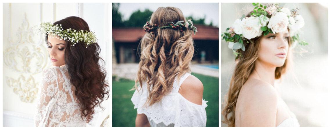 Een bloemenkroon voor de bruid: fleur jouw haar op met de mooiste bloemen!