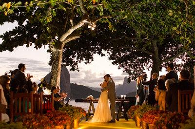 Casamento ao pôr do sol de Cecilia & Luis Paulo: colorido e super animado no Rio de Janeiro!