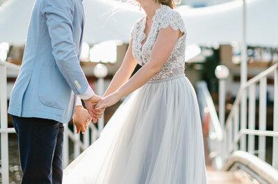 Голубая безмятежность: нежная свадьба Ксении и Артема