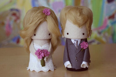 Add a fun element to your wedding cake with some cute cake toppers