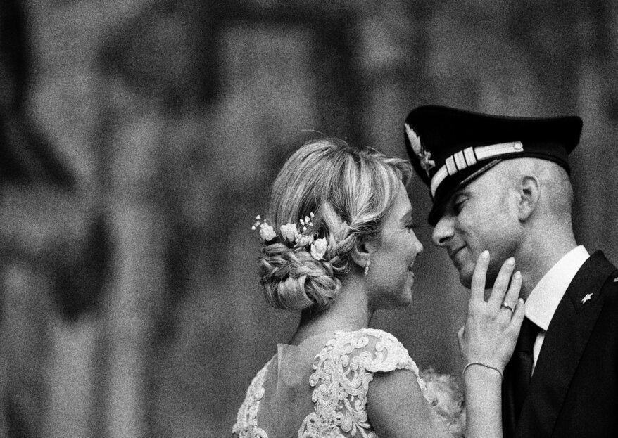 La pellicola fotografica con i momenti più belli delle nozze di Aurora e Raffaele