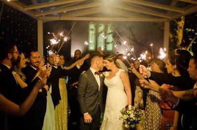 Casamento ao ar livre de Valéria e João: um dia mágico, repleto de luzes e muita emoção!