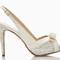 Белые босоножки для невесты от Kate Spade