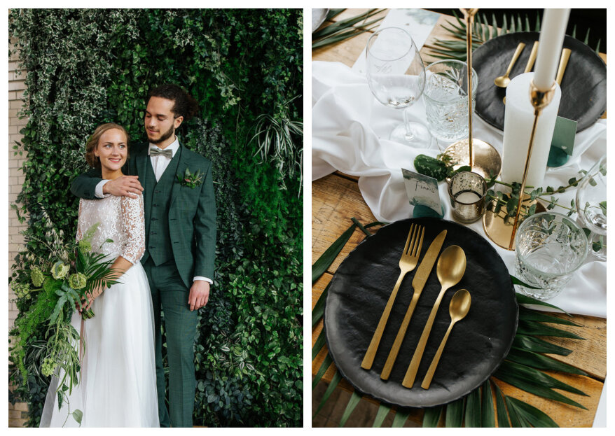 Styled Wedding Shoot: Natural Gold