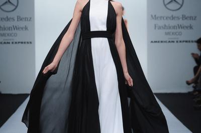 Vestidos de fiesta otoño 2013/14 de David Salomón en Mercedes Benz Fashion Week México