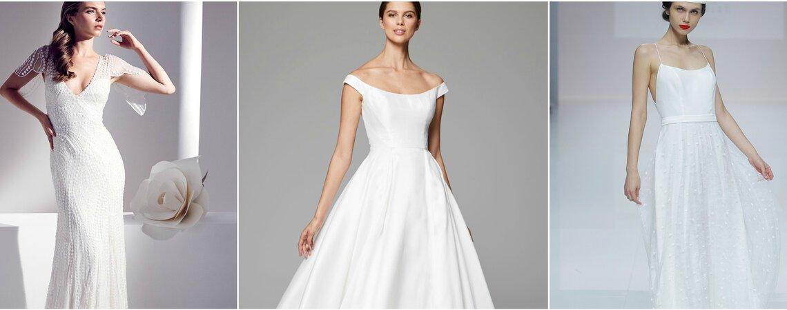 Minimalistische Brautkleider – Wer es lieber schlicht mag, sucht hier