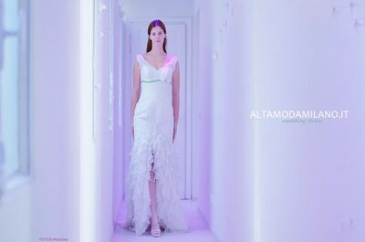 L'abito da sposa della settimana: sensualità e leggiadria per Milano Love 2014
