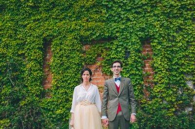 Tres rosas blancas en tu recuerdo: la boda de Laura y Diego