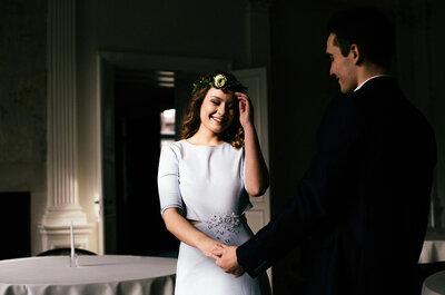 Ślubna fotorelacja, gdzie styl greenery uzupełniony został o miedziane i złote dodatki. Oto Aleksanda i Iwo!