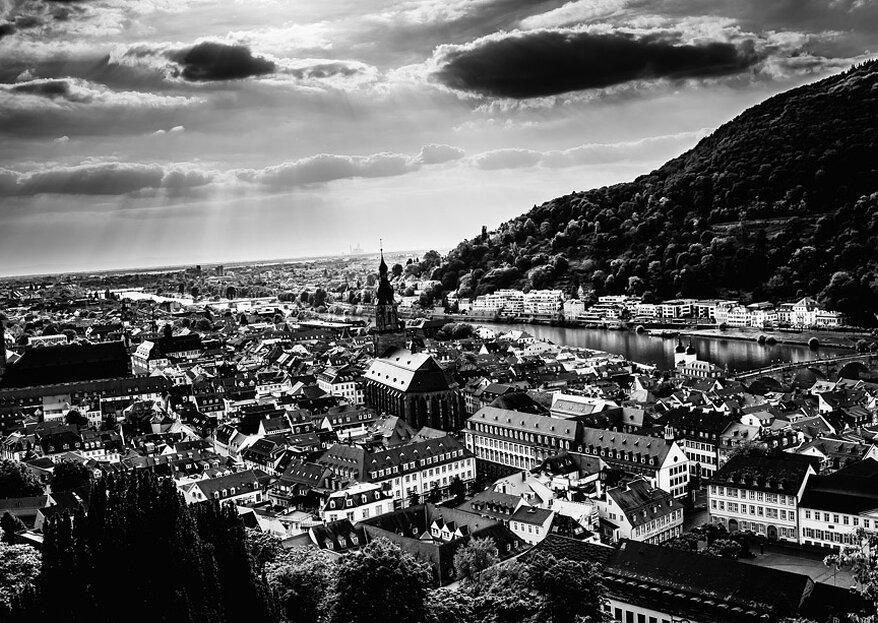 Die besten Locations für Ihre Hochzeit in Heidelberg – Schlösser, Gutshöfe & mehr für Ihren großen Tag