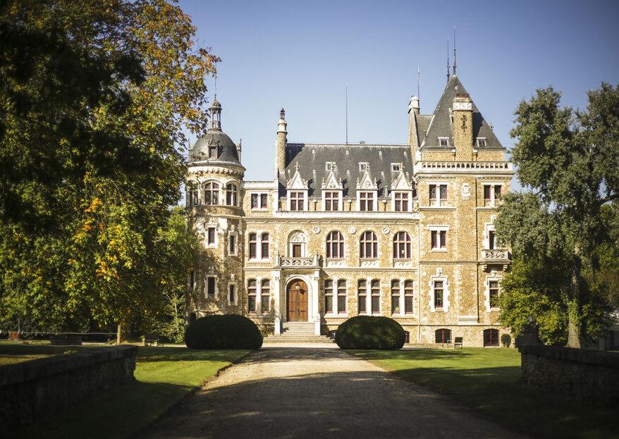 Château de Méridon : un cadre romantique et naturel pour un mariage de conte de fée