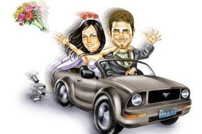 Inviti di nozze stile comic