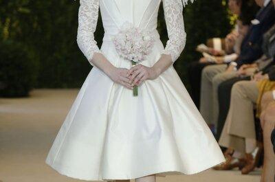 Vestidos de noiva Carolina Herrera 2014 cheios de amor e romantismo