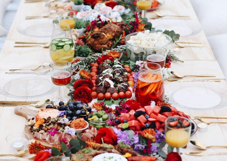 Mesas abundantes para bodas: ¡conoce la nueva tendencia en catering!