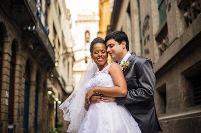 Casamento de Edna & Gustavo: SAMBA e alegria contagiante no coração do Rio!