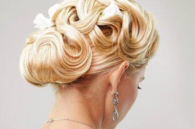 Penteados e acessórios de cabelo incríveis para noivas em 2015