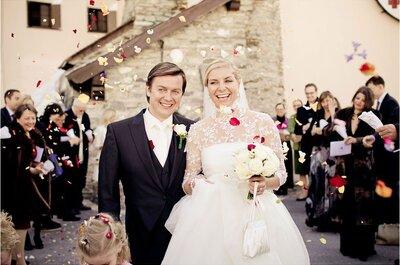 Hoch lebe das Brautpaar! Beeindruckende Bilder der frisch Vermählten!