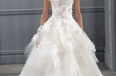 Suknie ślubne 2014: Monique Lhuillier, kolekcja na wiosnę