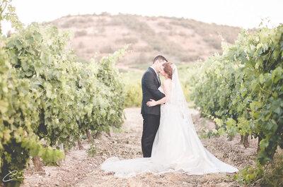 Atardecer entre viñedos: la boda de Ana y Rodri